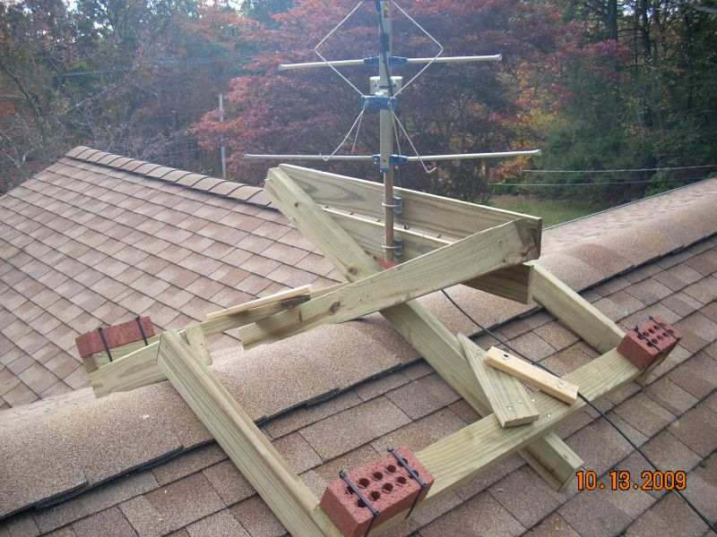 Non Penetrating Satellite Dish Roof Mount Freeview Uhf